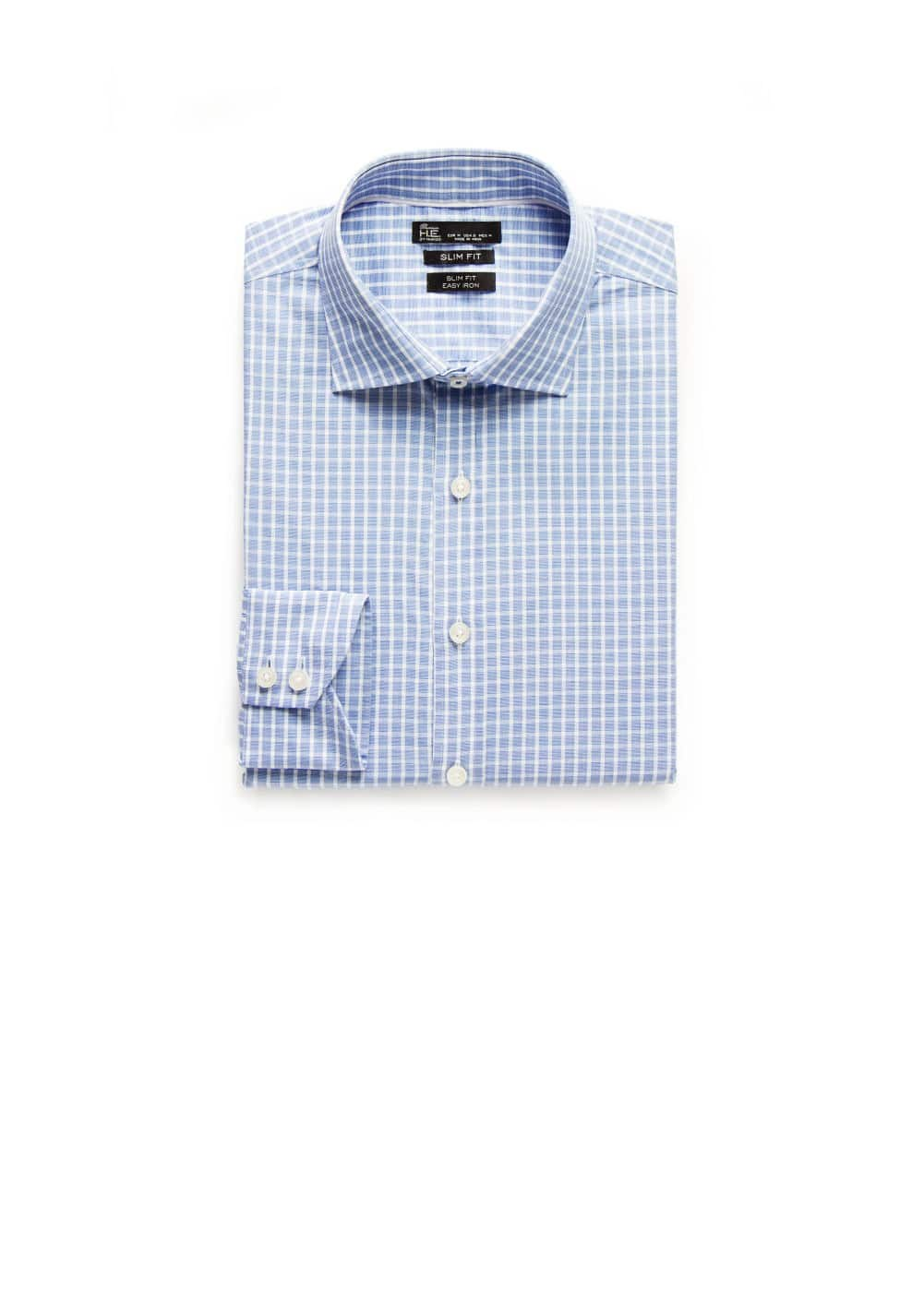 Slim-fit premium check shirt | MANGO