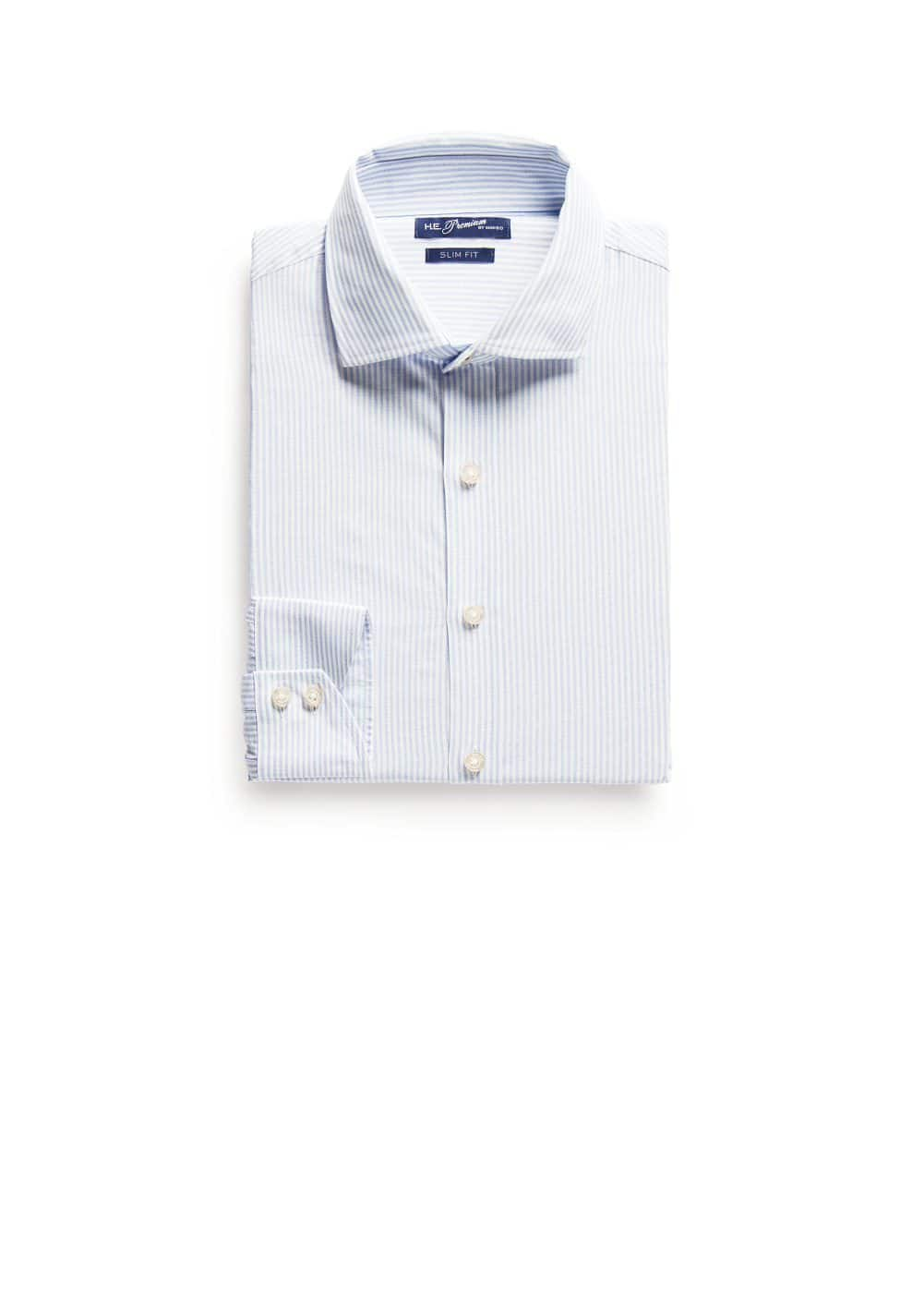 Slim-fit premium striped shirt | MANGO MAN