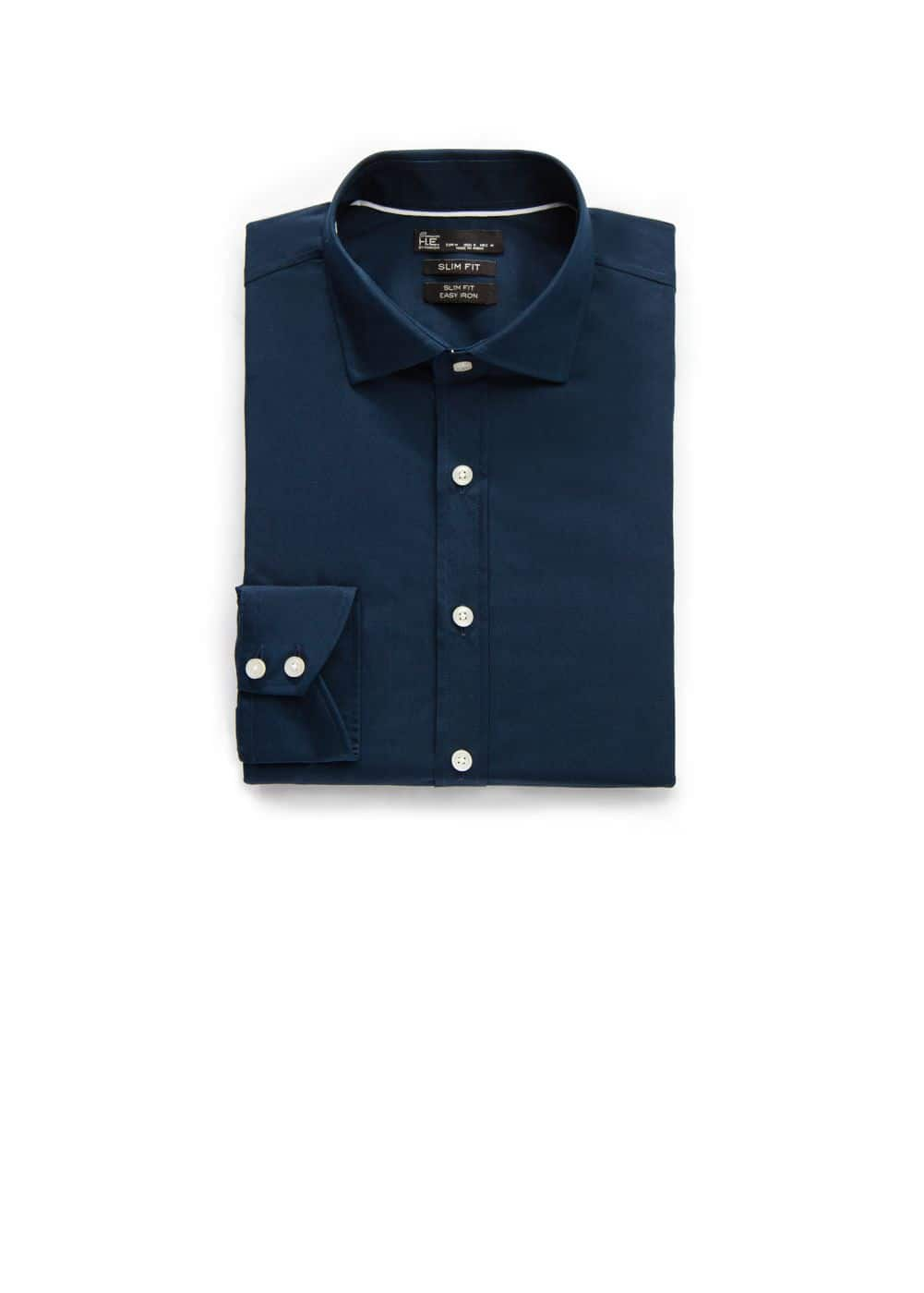 Slim-fit premium cotton shirt | MANGO MAN