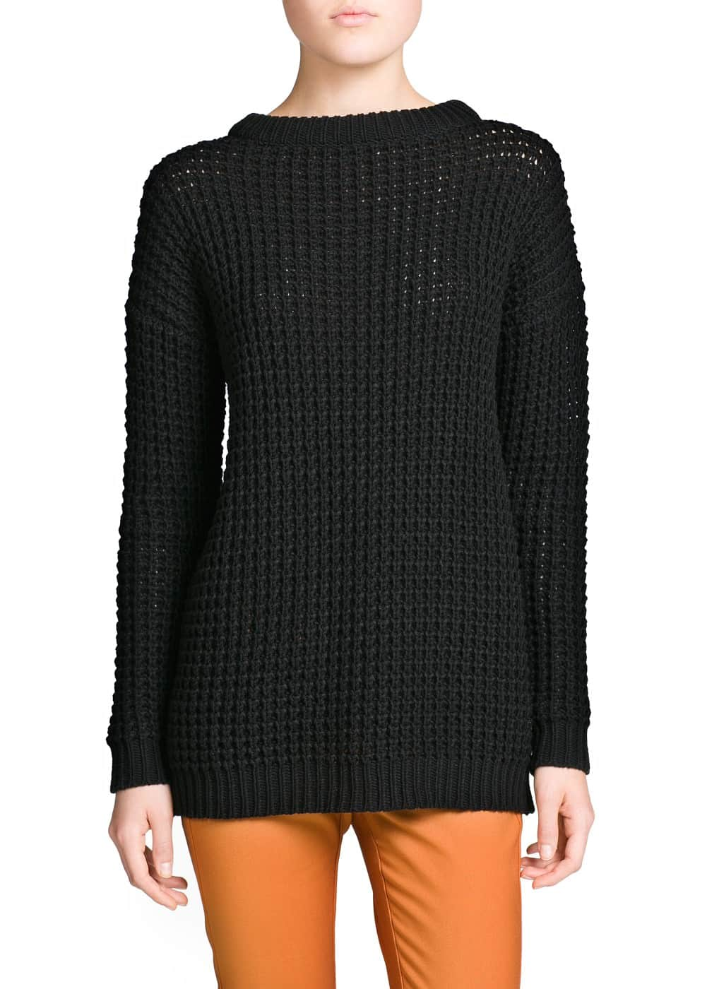 Chunky-knit long sweater | MANGO