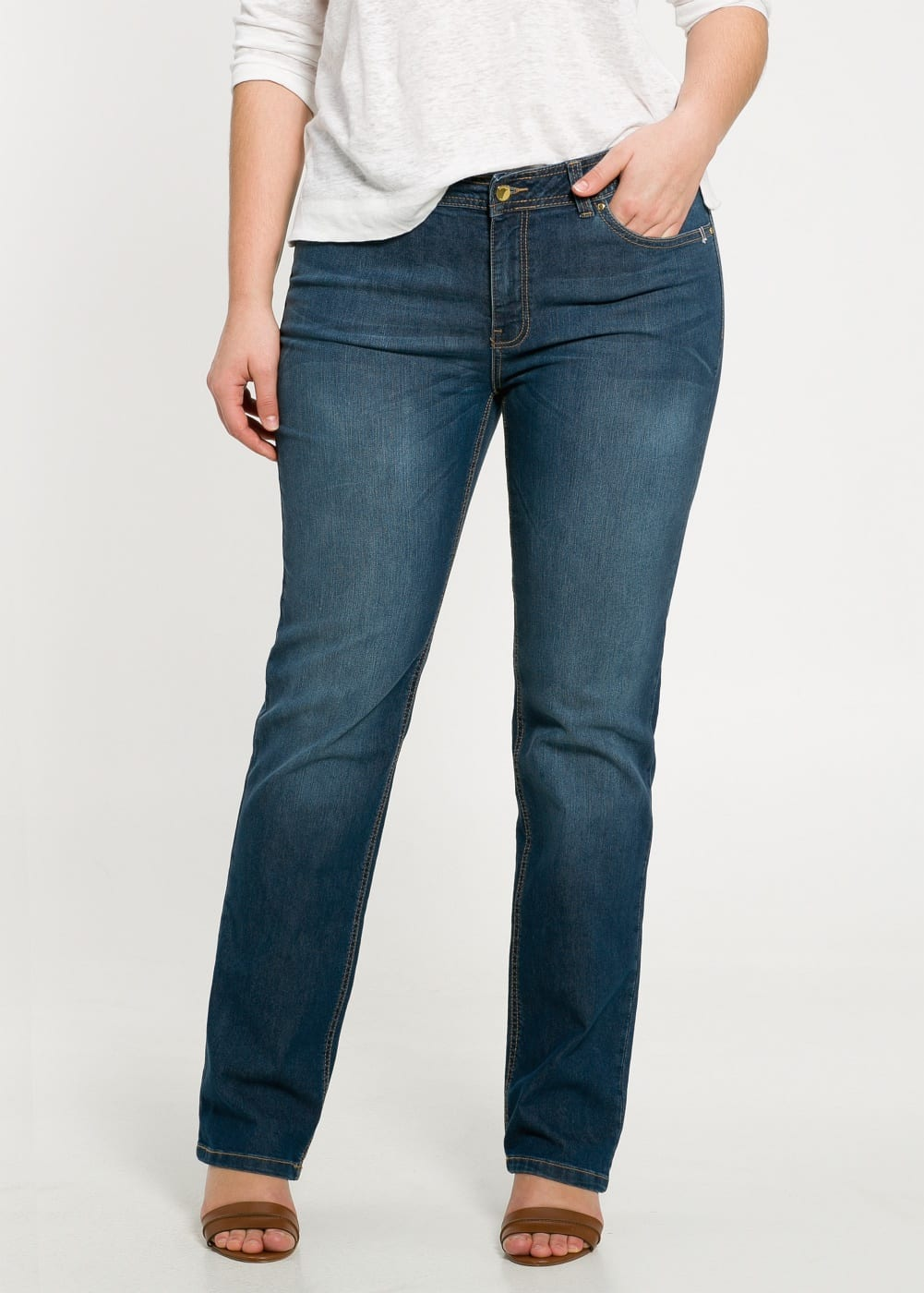 Straight-fit ely jeans   MANGO