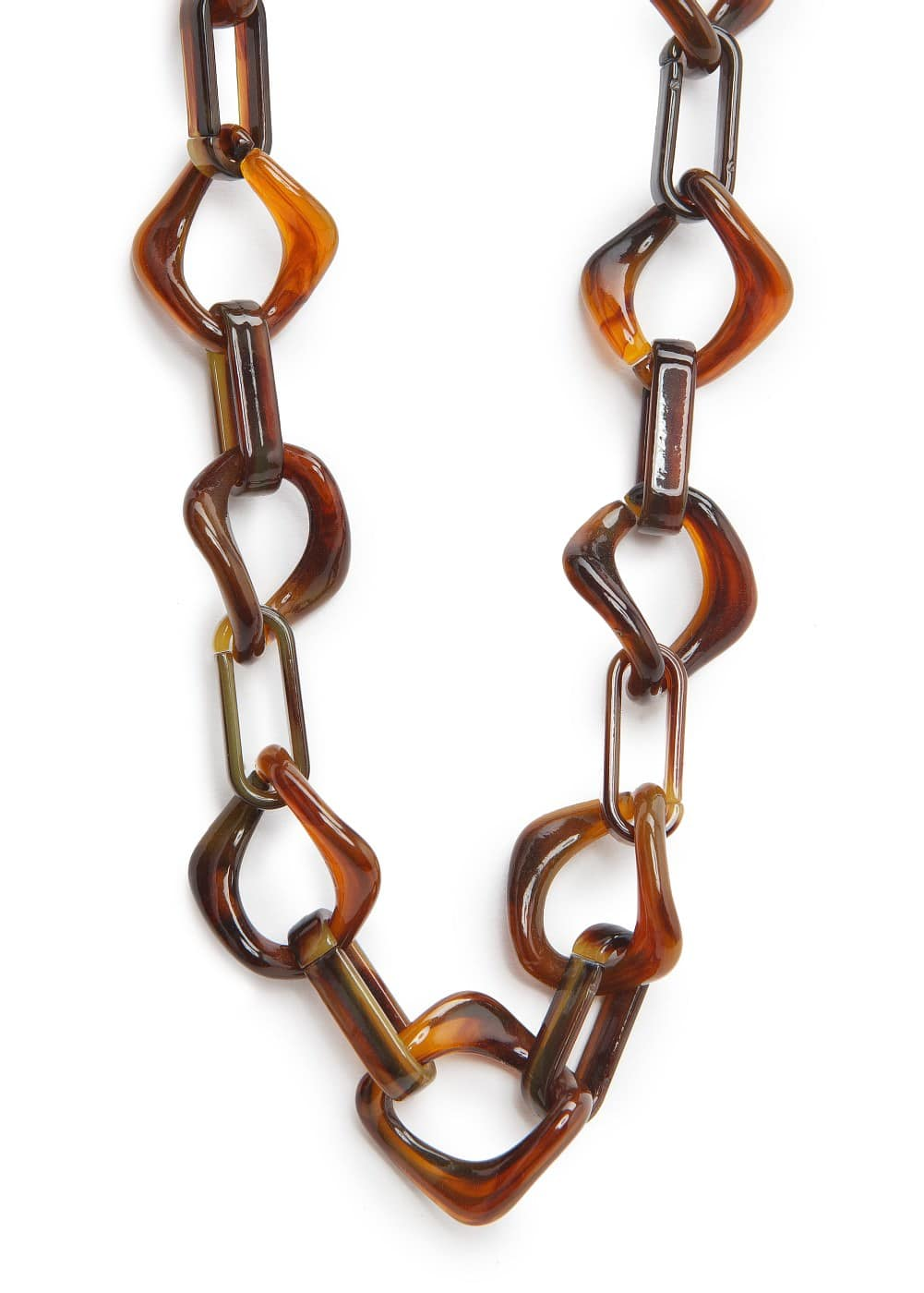 Tortoiseshell effect link necklace | MANGO