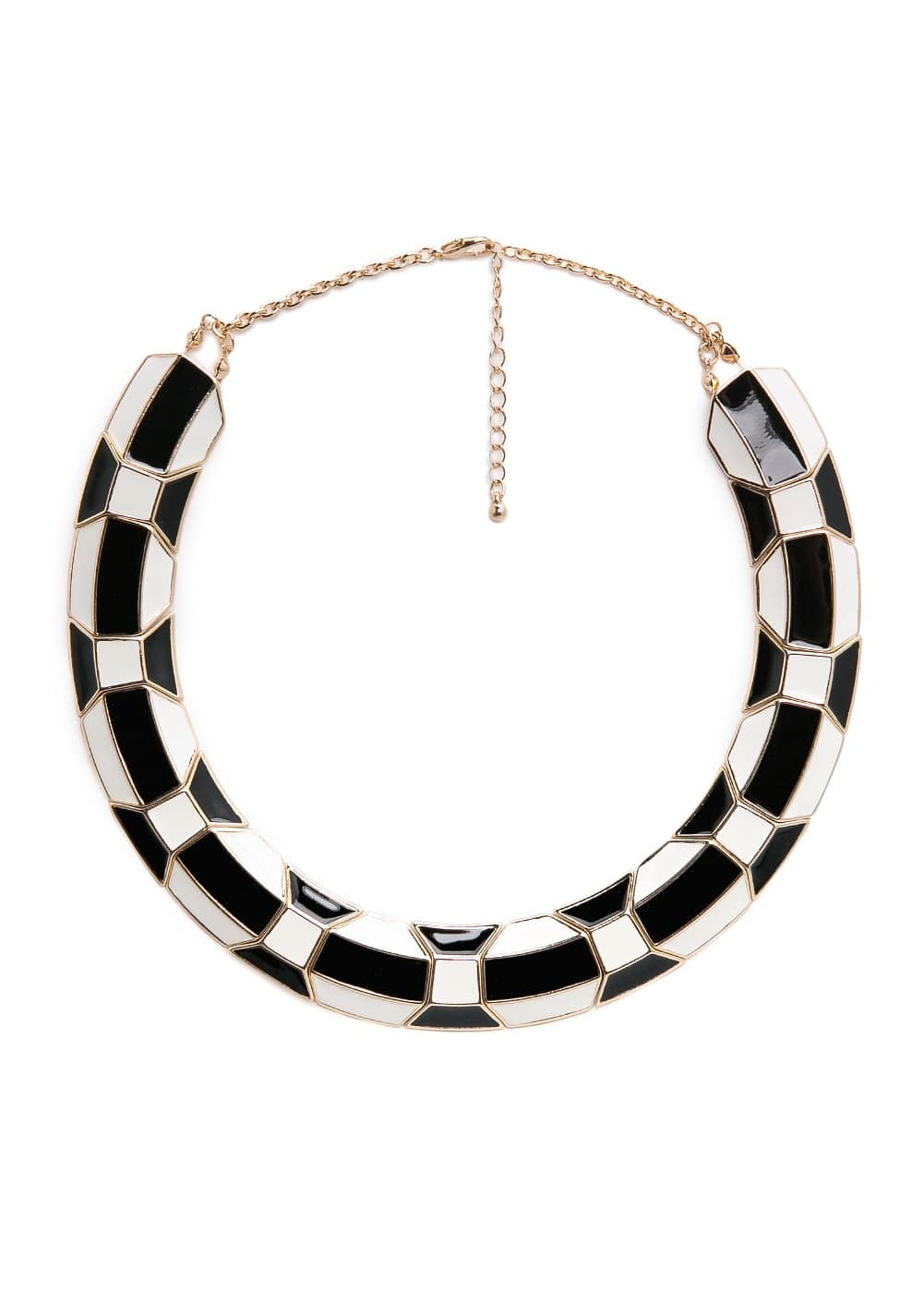 Enamel plate necklace | MANGO
