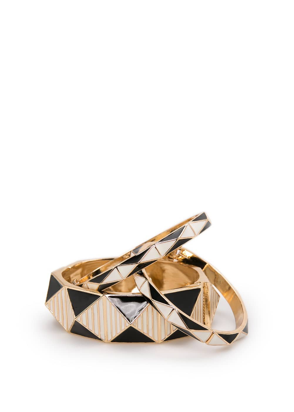 Enamel bangle set | MANGO