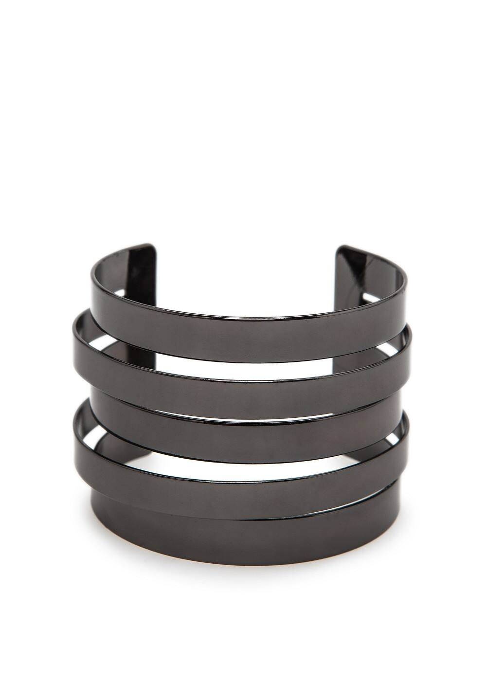 Cut-out metal cuff | MANGO