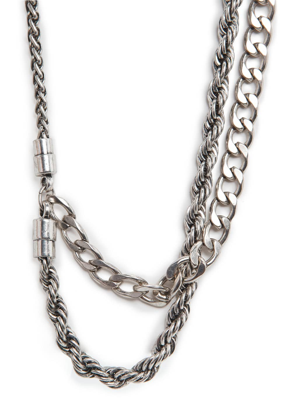Glam grunge chain necklace | MANGO