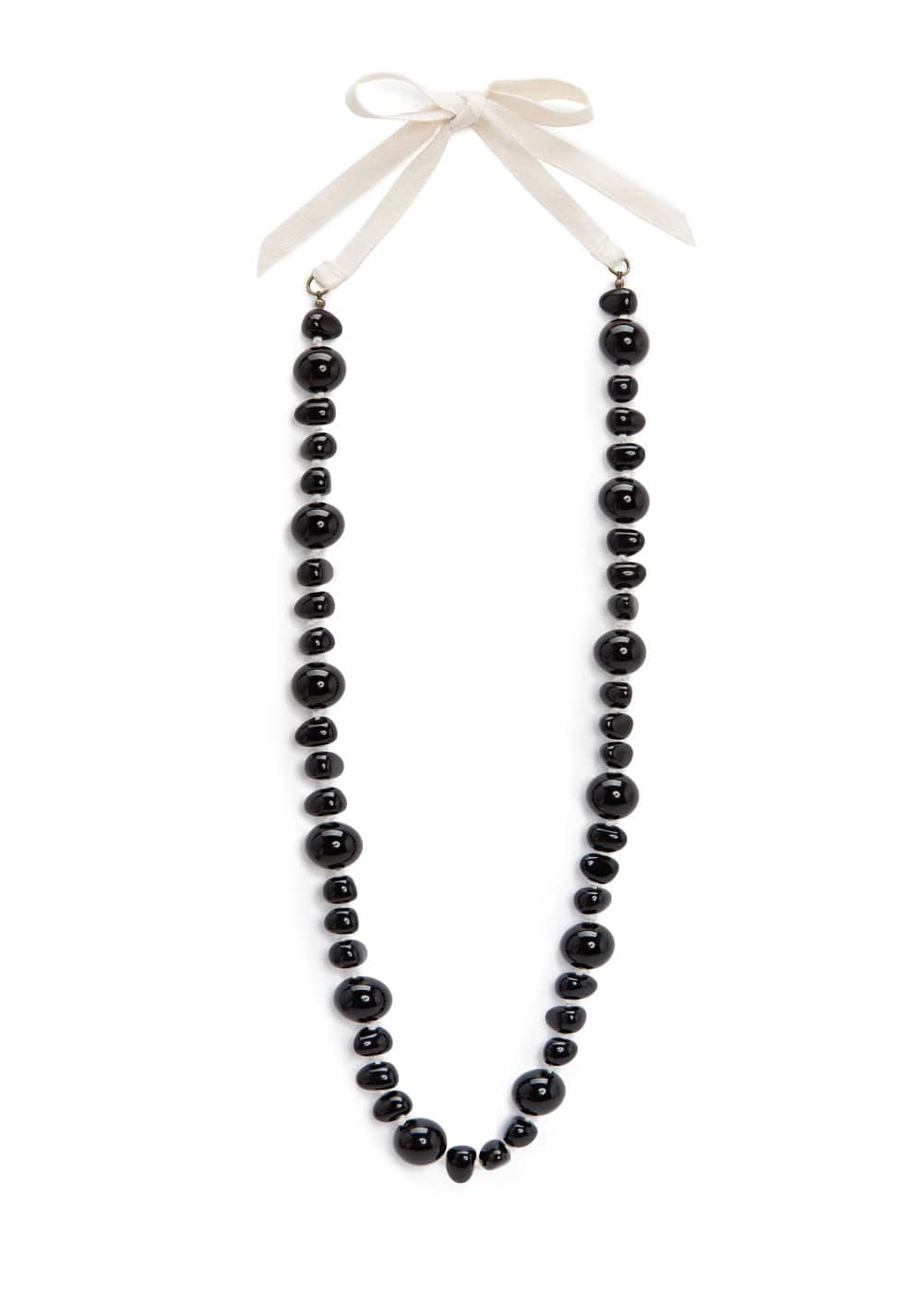 Beaded cord necklace | MANGO