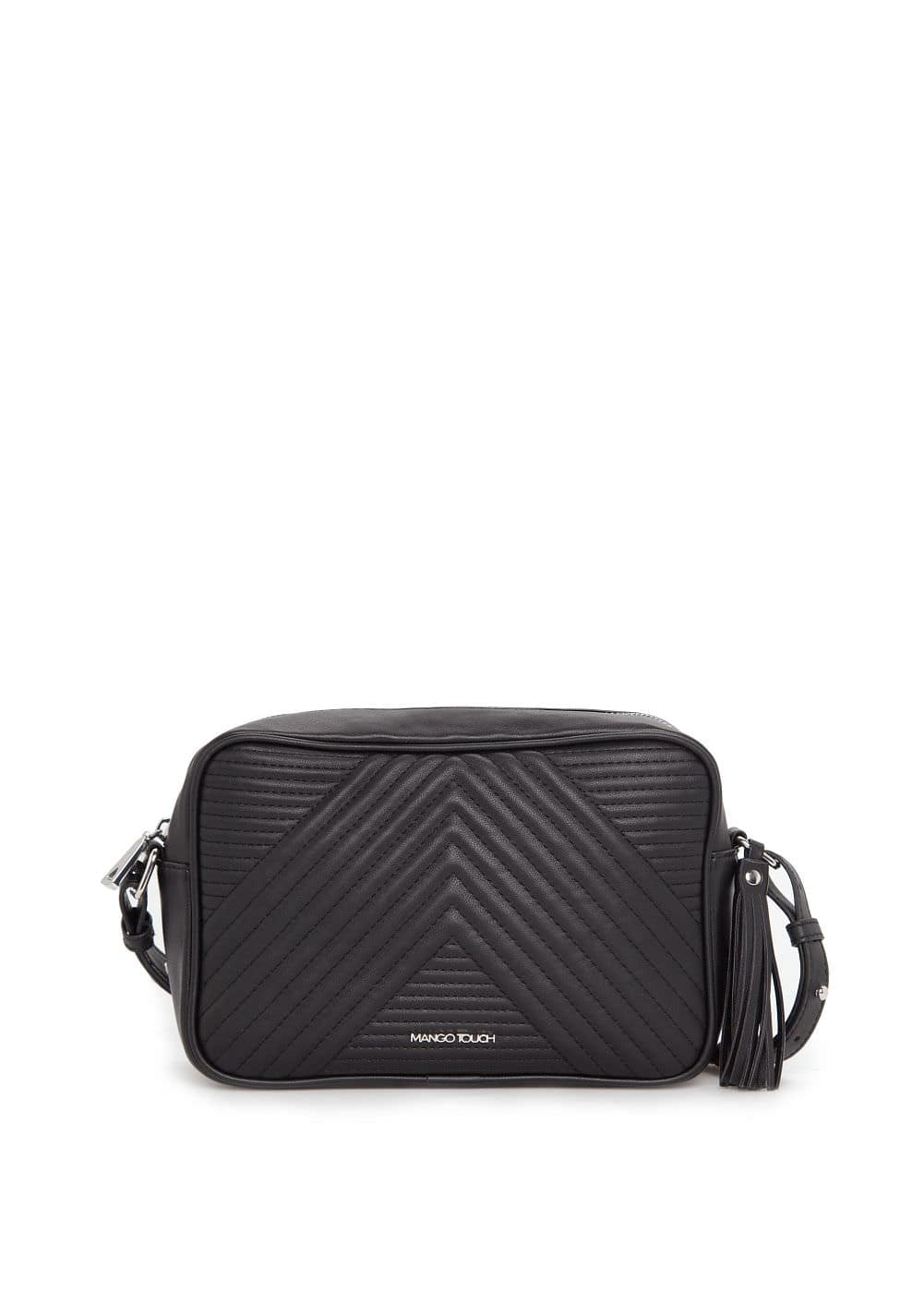 Tassel quilted pattern bag | MANGO