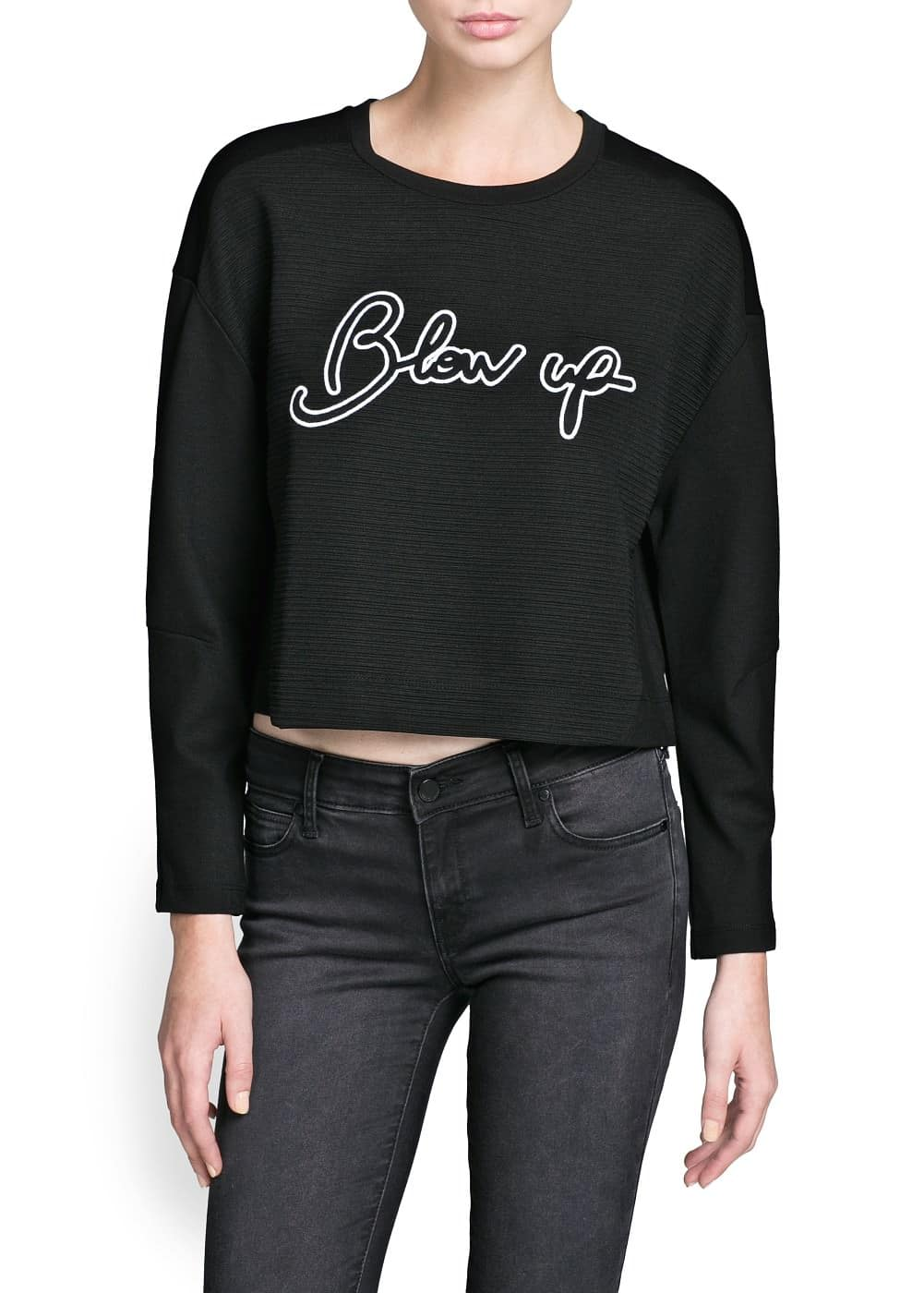 Blow up cropped sweatshirt | MANGO