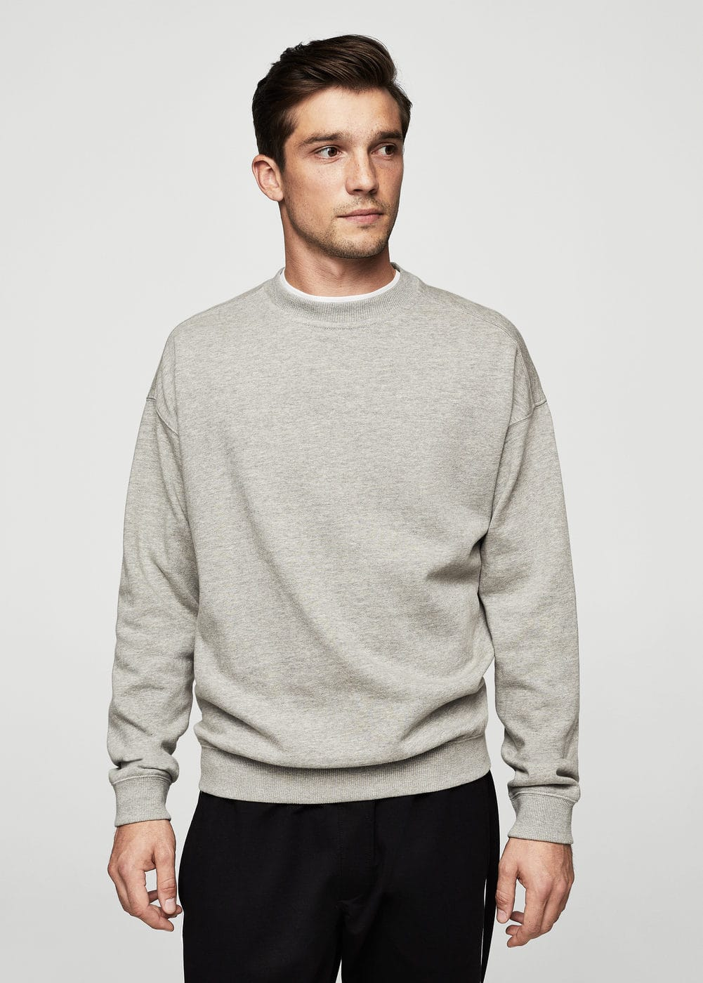 Oversize cotton sweatshirt | MANGO MAN