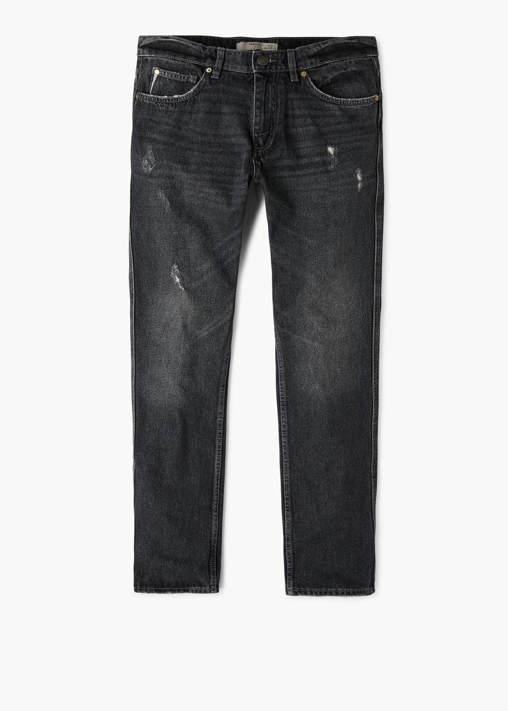 Jeans bob straight-fit oscuros | MANGO