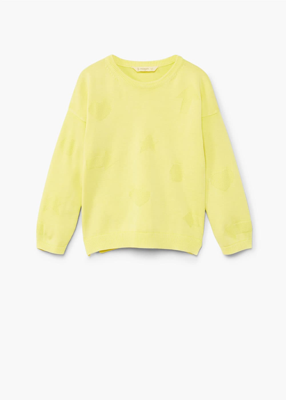 Contrasting knit sweater | MANGO