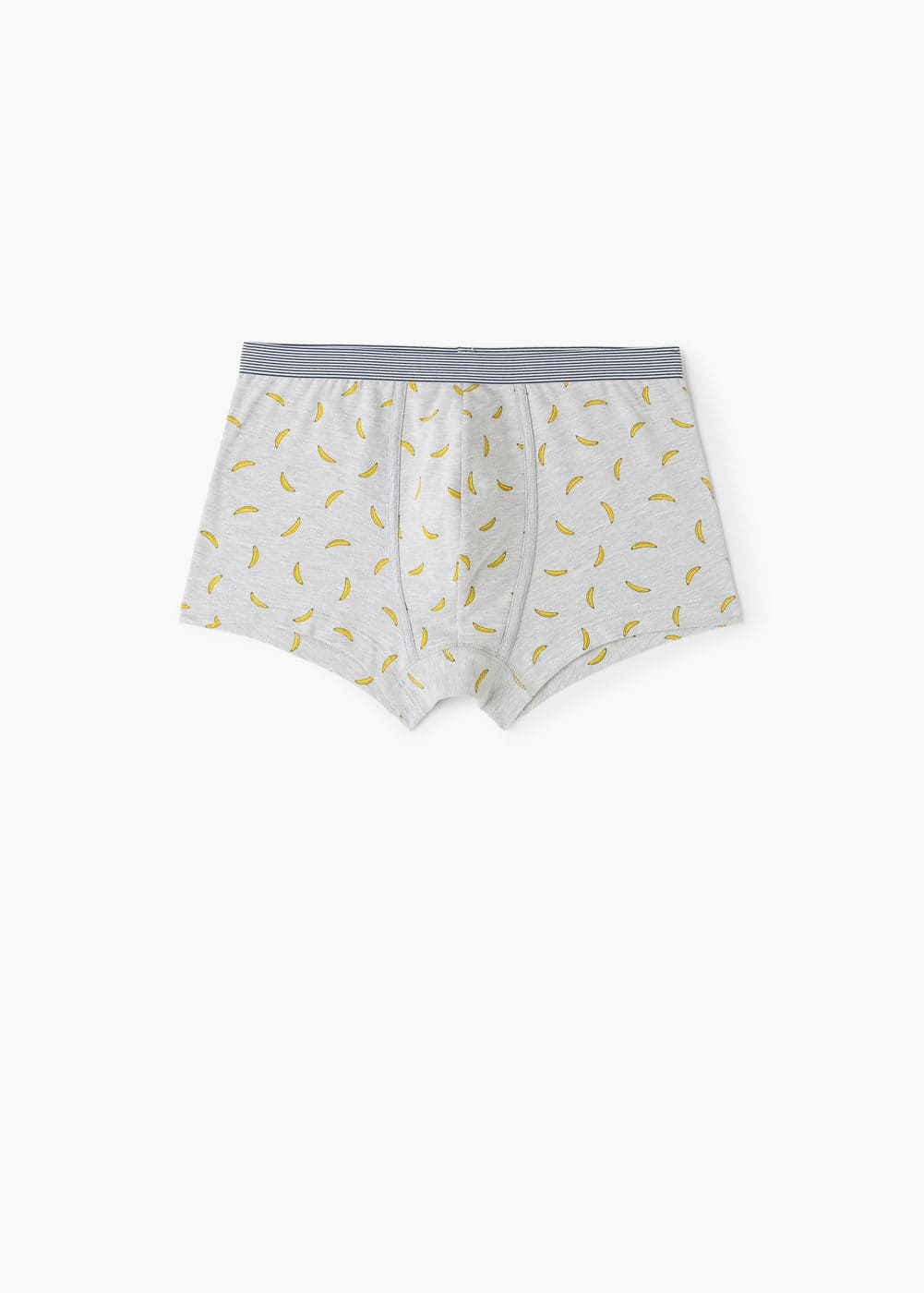 Banana print cotton boxer shorts | MANGO MAN