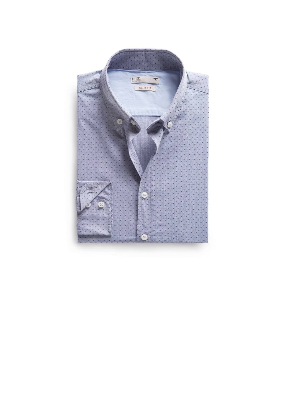 Slim-fit jacquard shirt | MANGO MAN