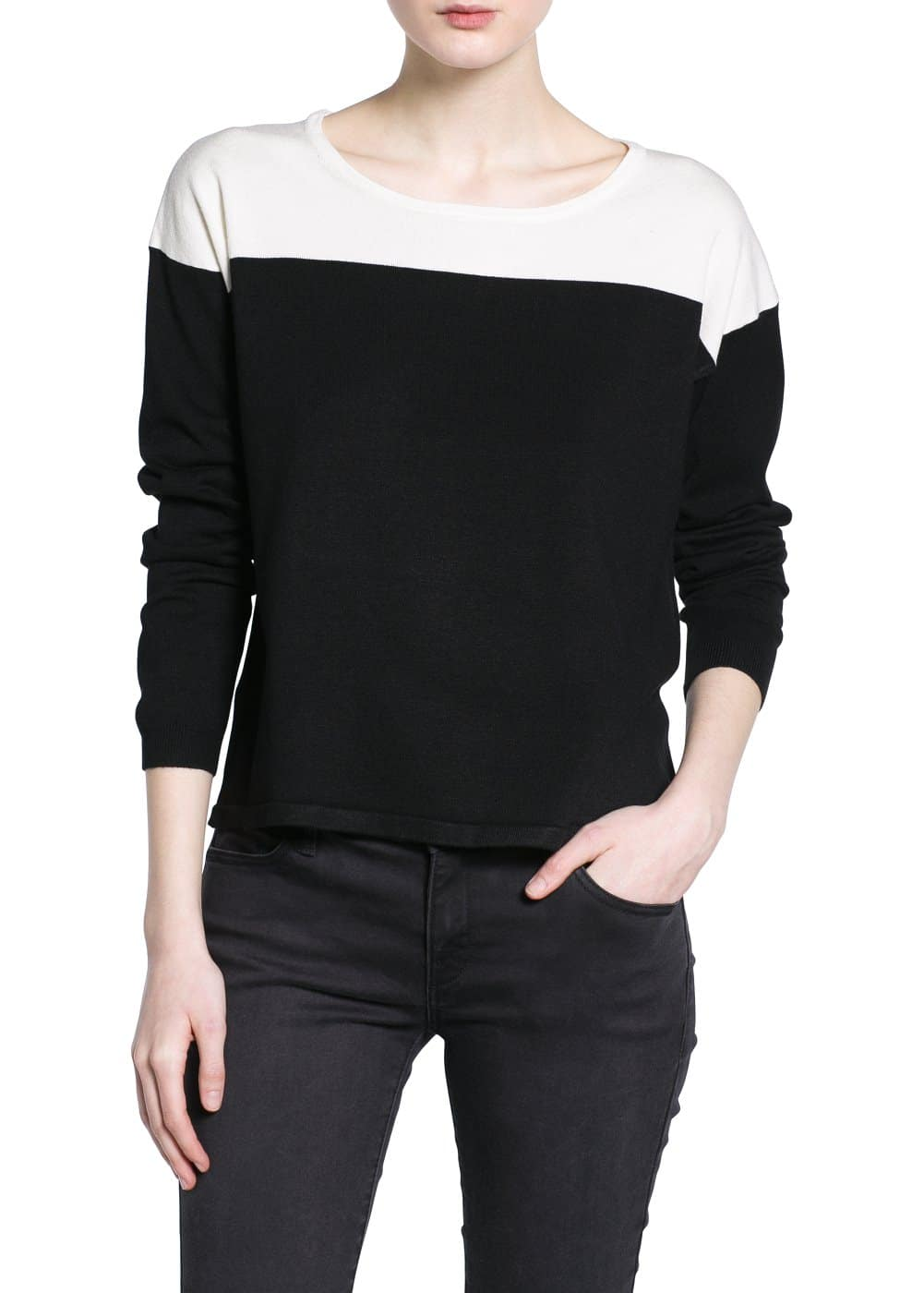 Pull-over bicolore | MANGO
