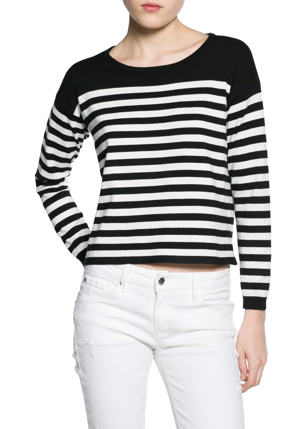 Striped boxy sweater | MANGO