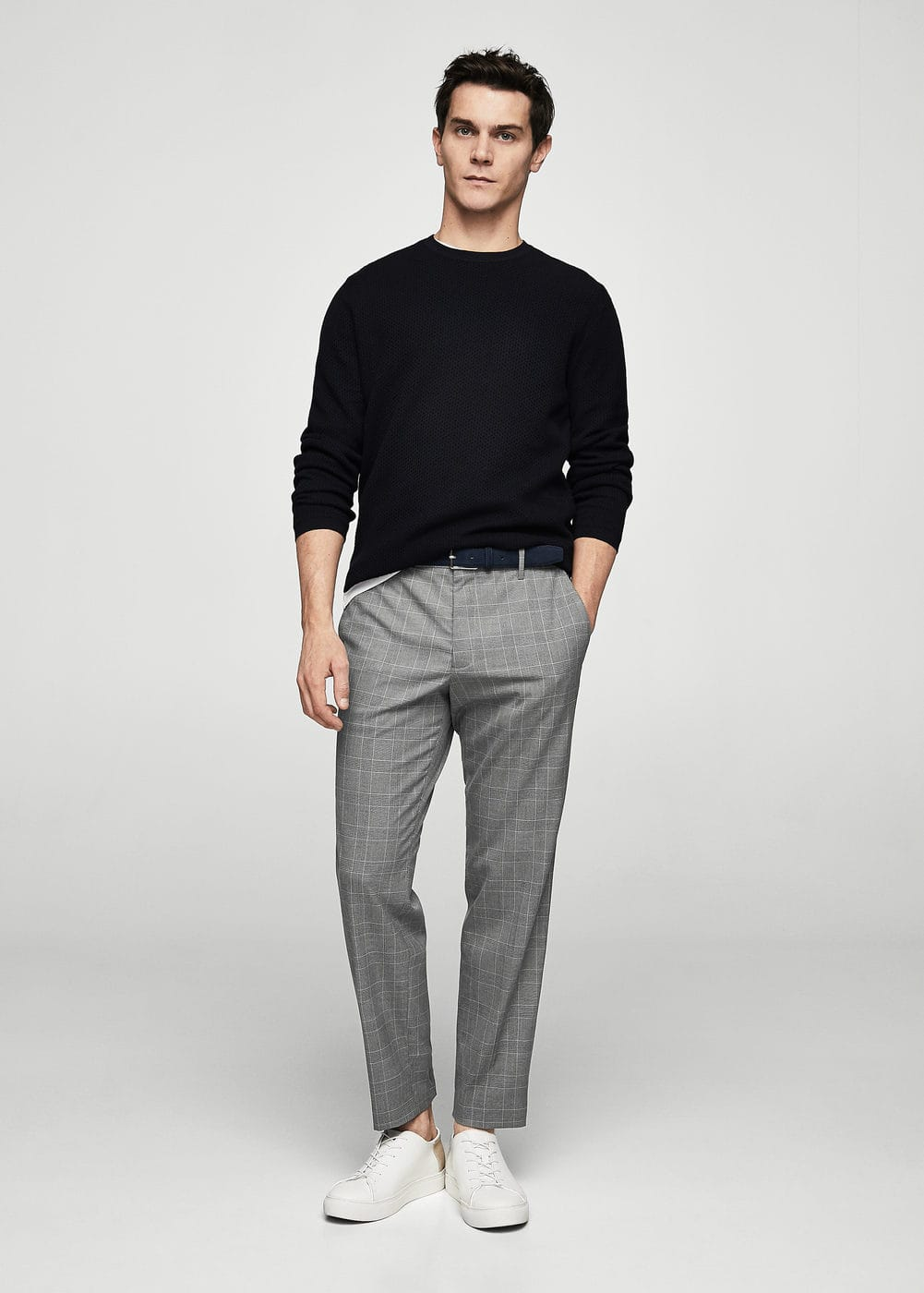 Prince of wales trousers | MANGO MAN