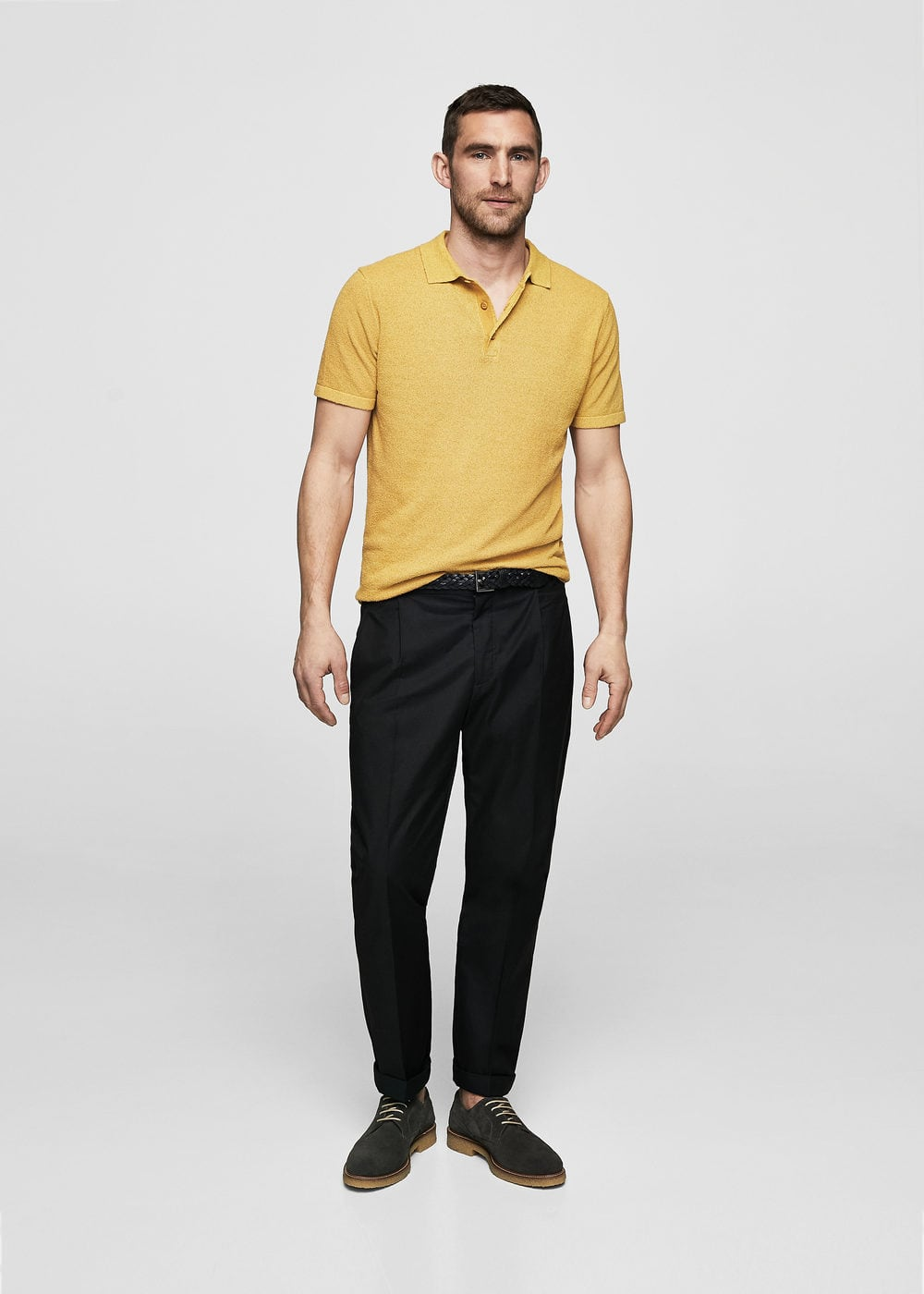 Cotton pleated trousers | MANGO MAN