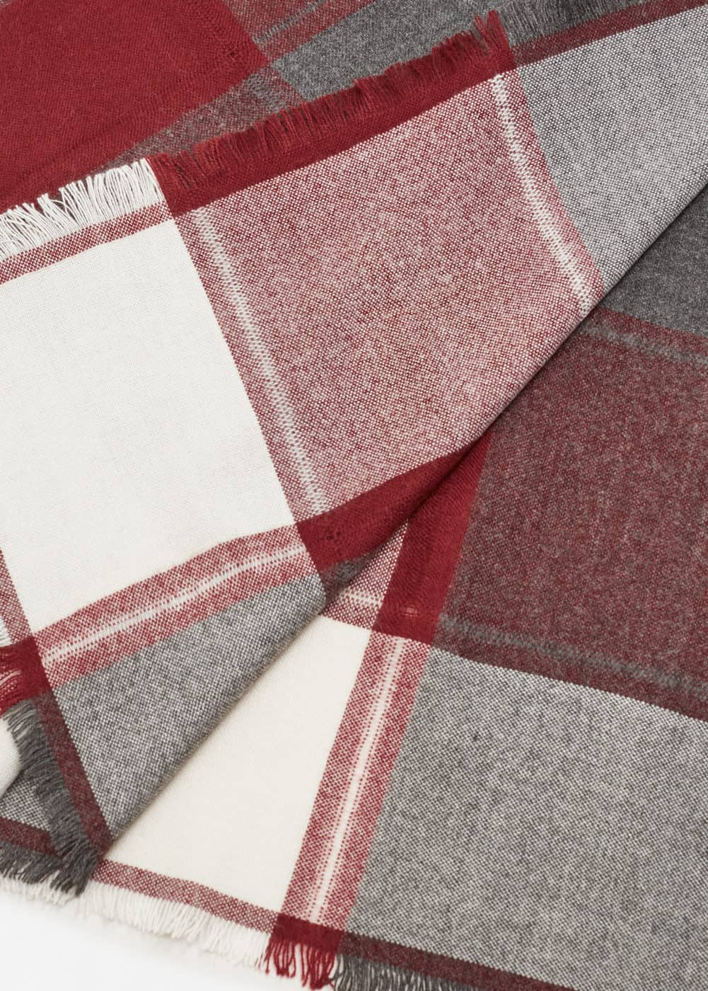 Tricolor check scarf | MNG