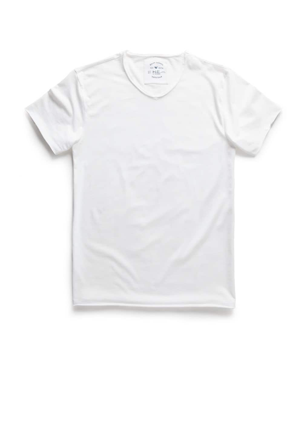 Raw-edge t-shirt | MANGO MAN