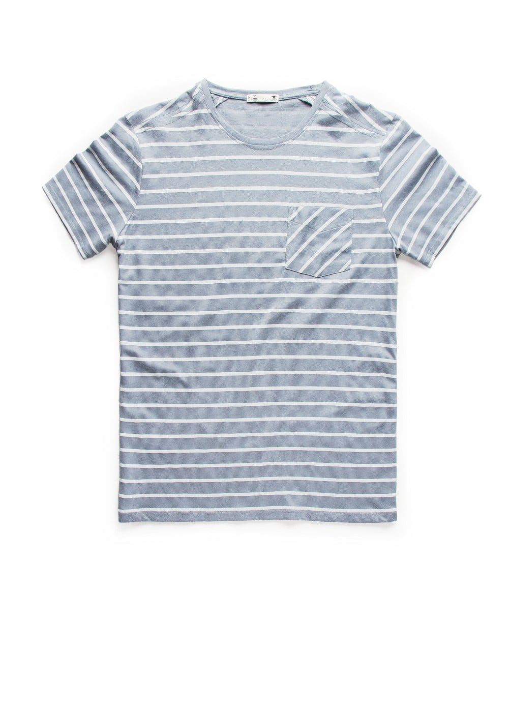 Chest-pocket striped t-shirt | MANGO MAN