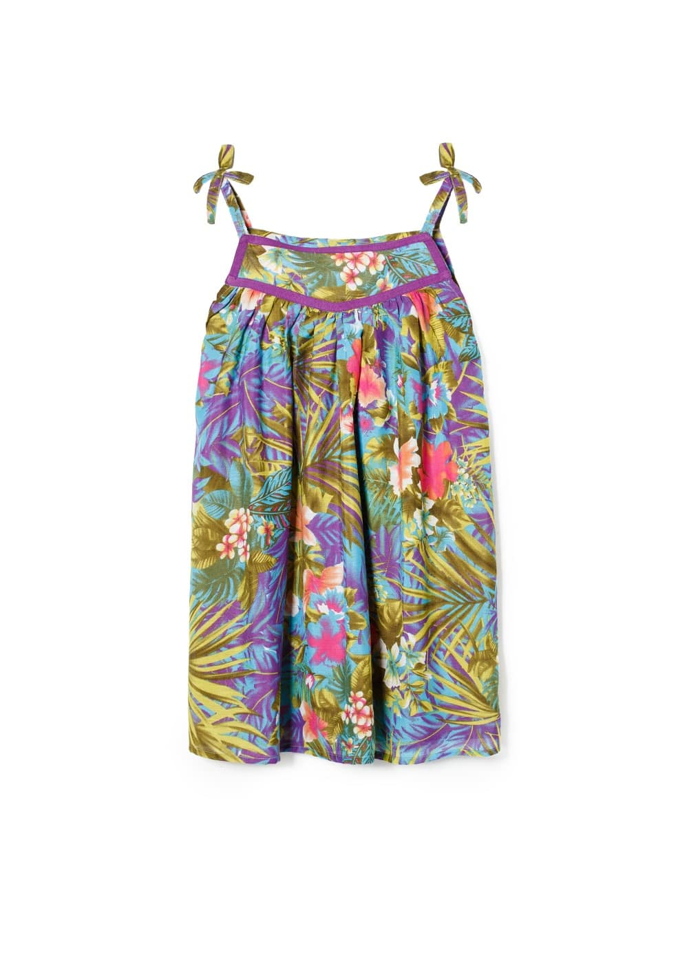 Tropical print dress | MANGO KIDS
