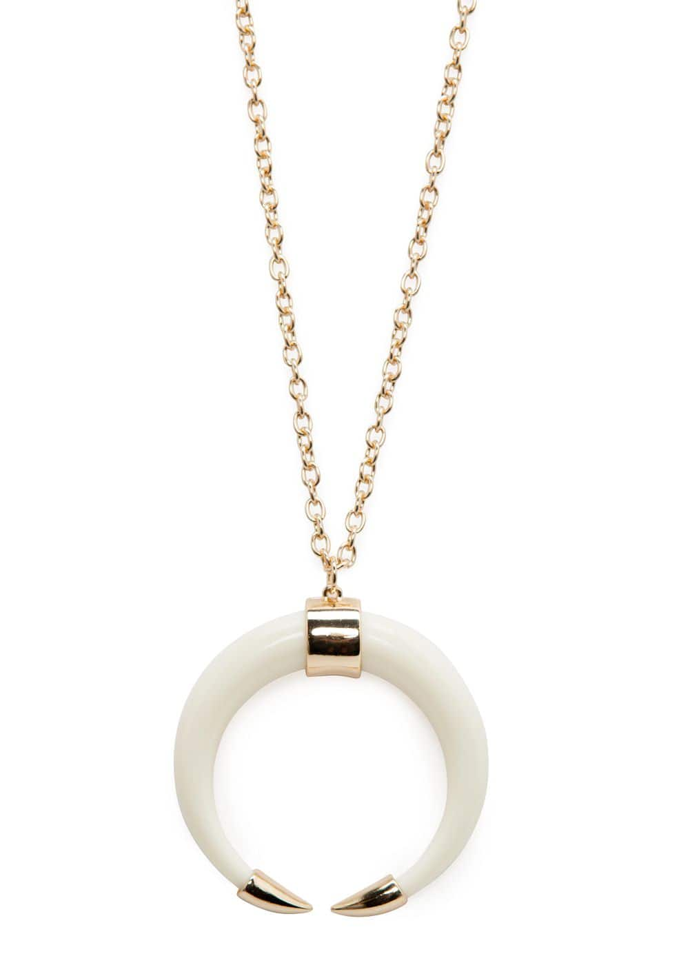 Horn pendant necklace | MANGO