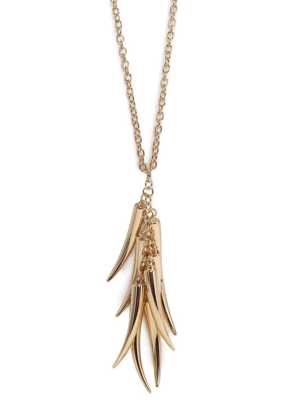 Metal horn necklace | MANGO