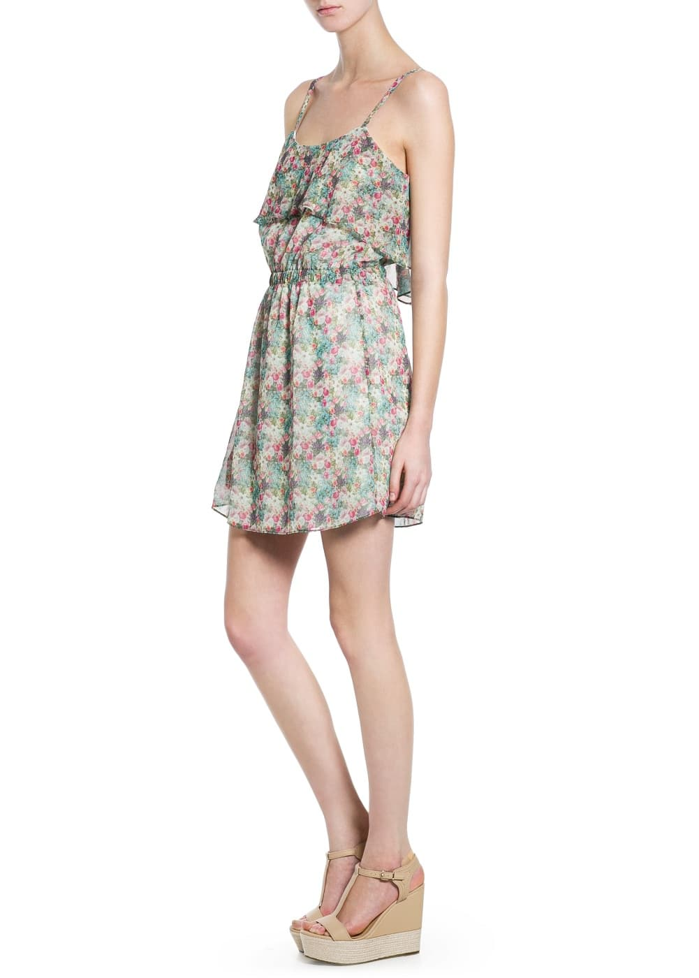 Ruffle floral dress | MANGO