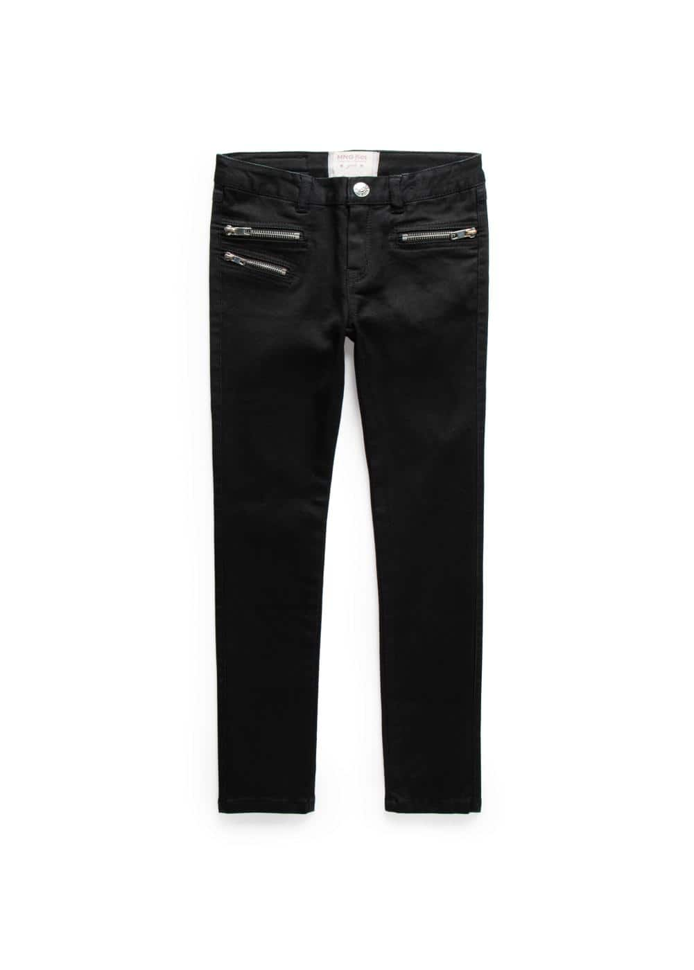 Zipped black jeans | MANGO KIDS