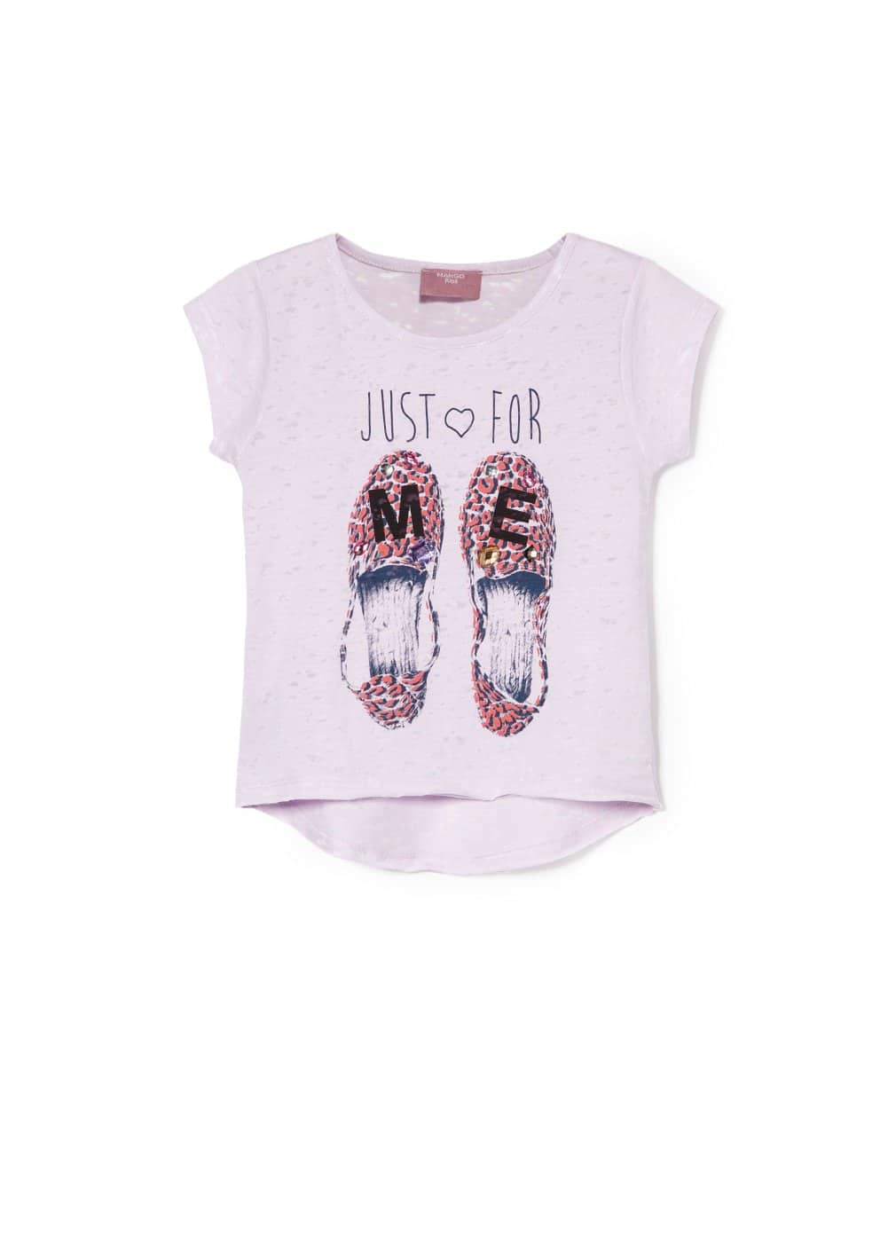 Crystal devoré t-shirt | MANGO KIDS