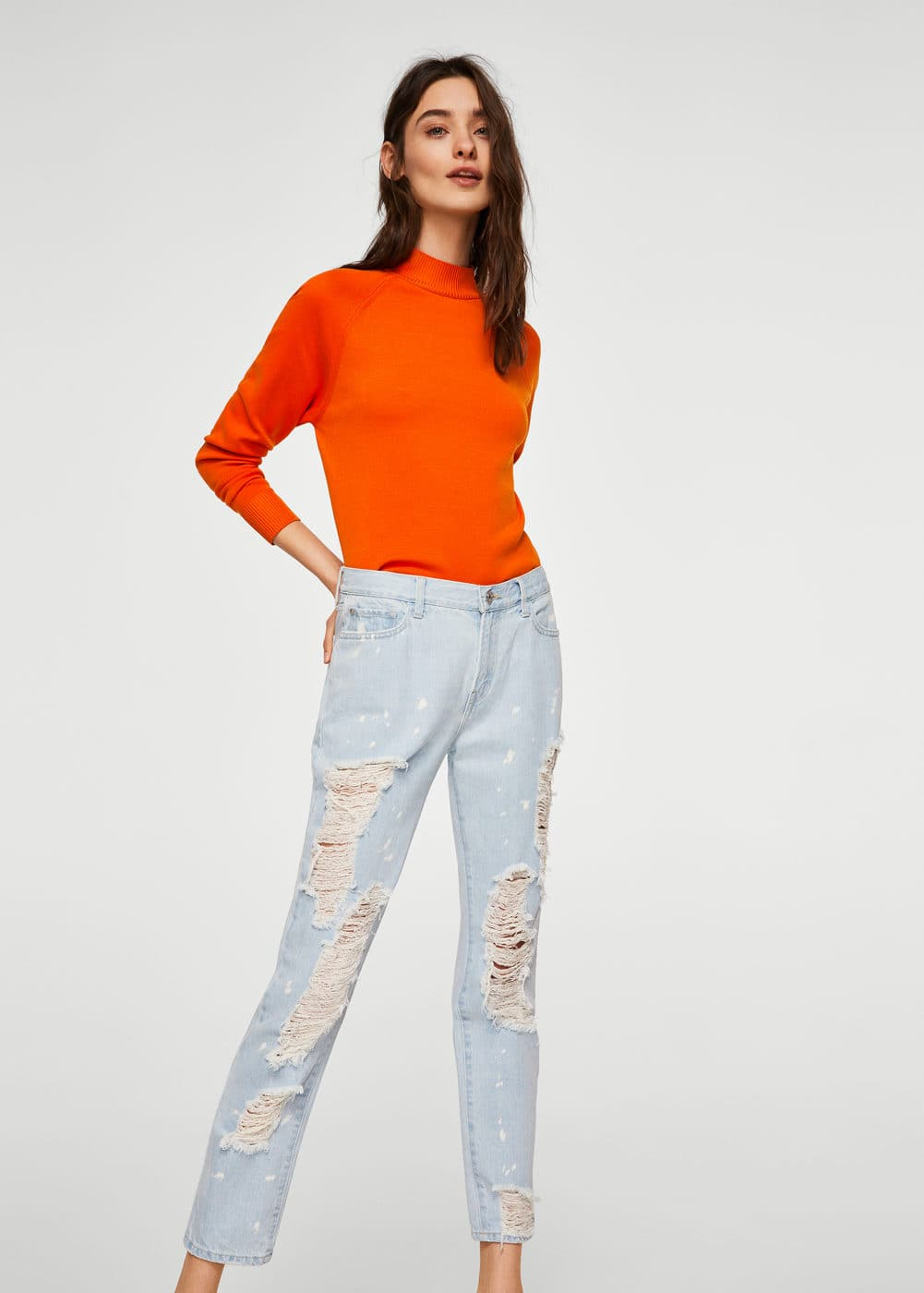 Faded Relaxed Jeans by Mango