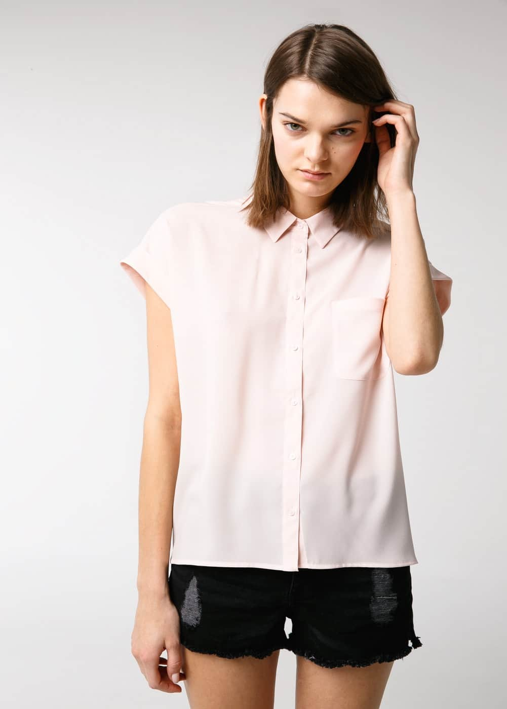 Chest pocket blouse | VIOLETA BY MANGO