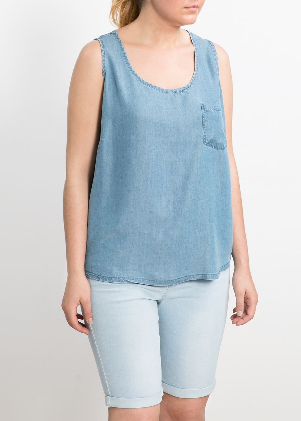 Soft fabric top | MANGO