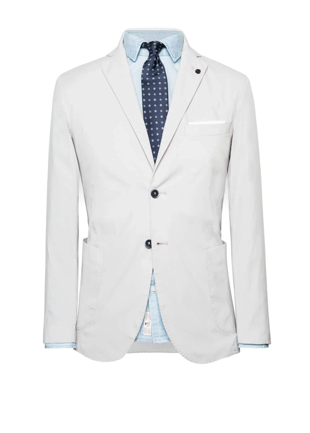 Unstructured cotton-blend blazer | MANGO MAN