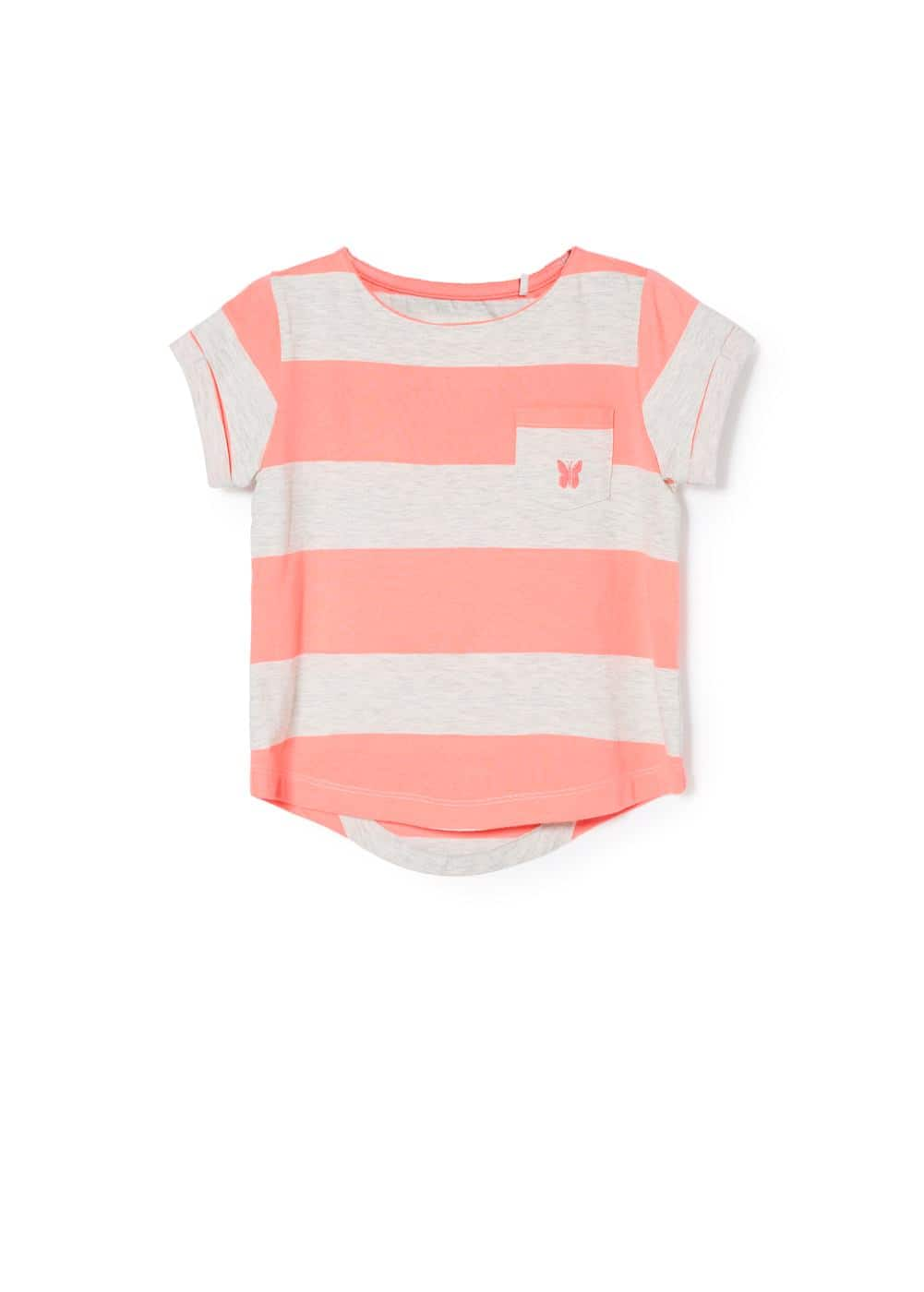 Logo striped t-shirt | MANGO