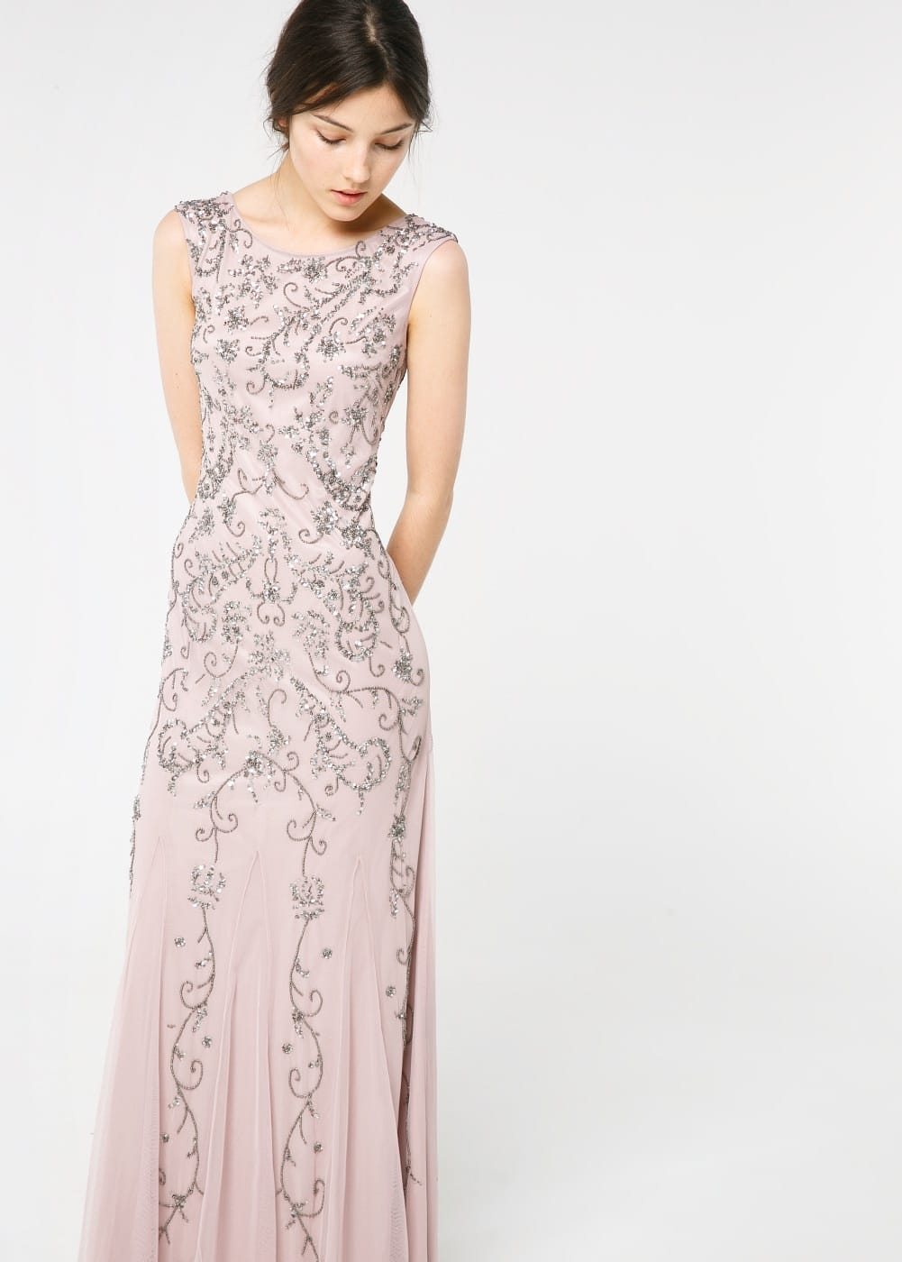 Sequin beaded gown | MANGO