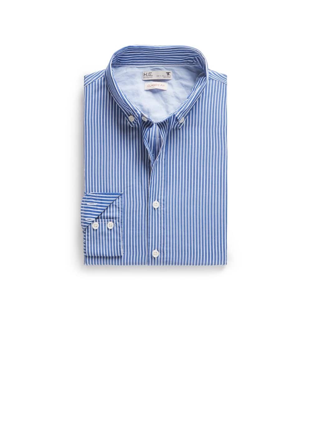 Classic-fit bengal stripe shirt | MANGO