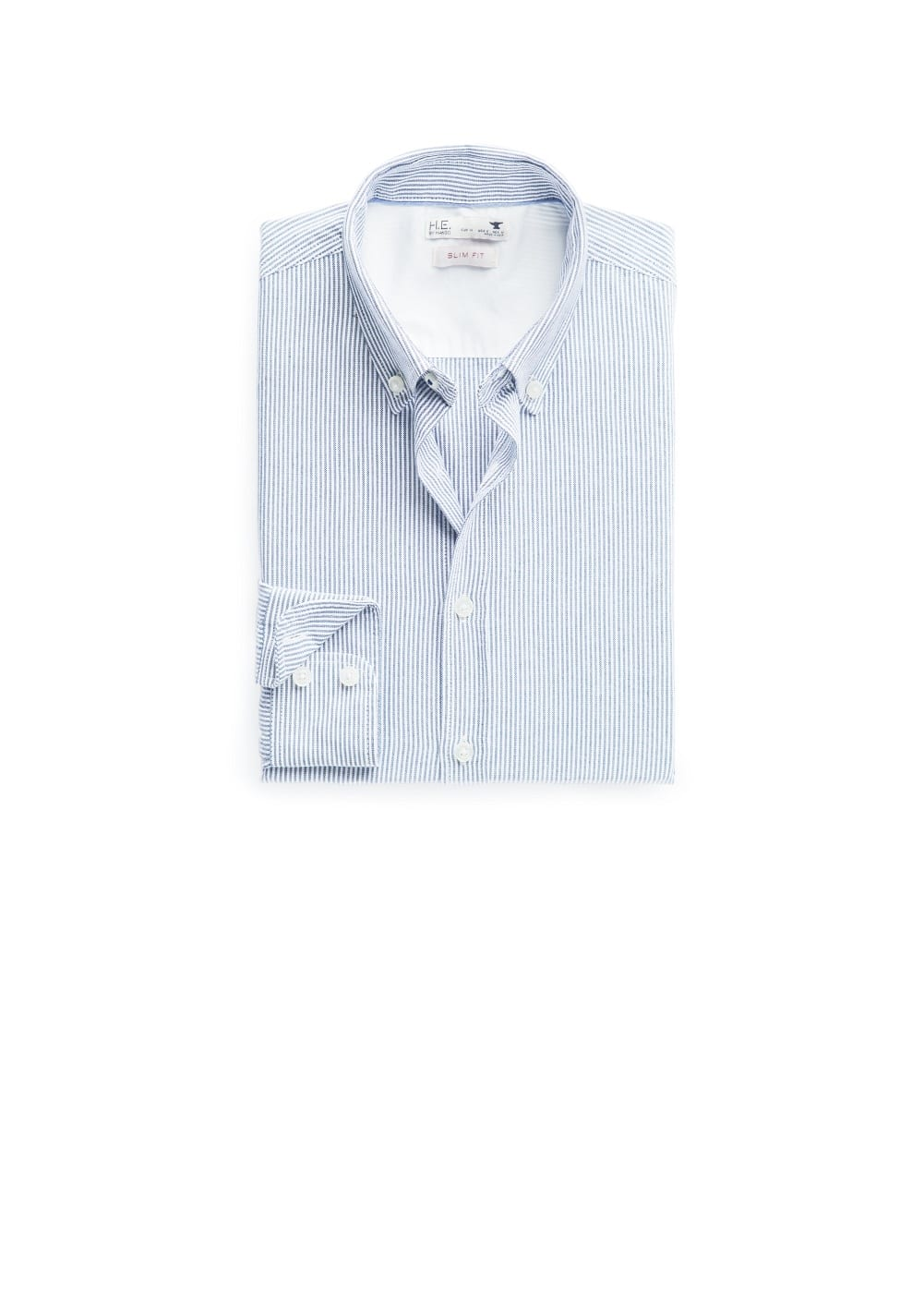 Slim-fit striped oxford shirt | MANGO MAN
