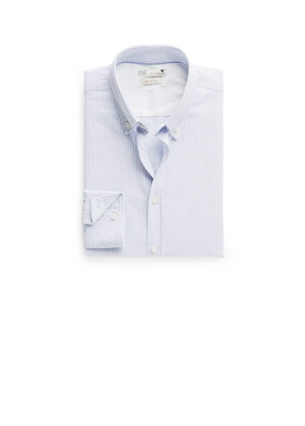 Camisa slim-fit oxford rayas | MANGO MAN