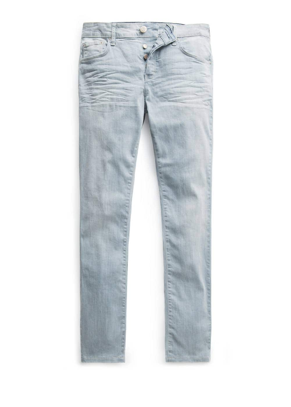 Slim-fit light wash tim jeans | MANGO