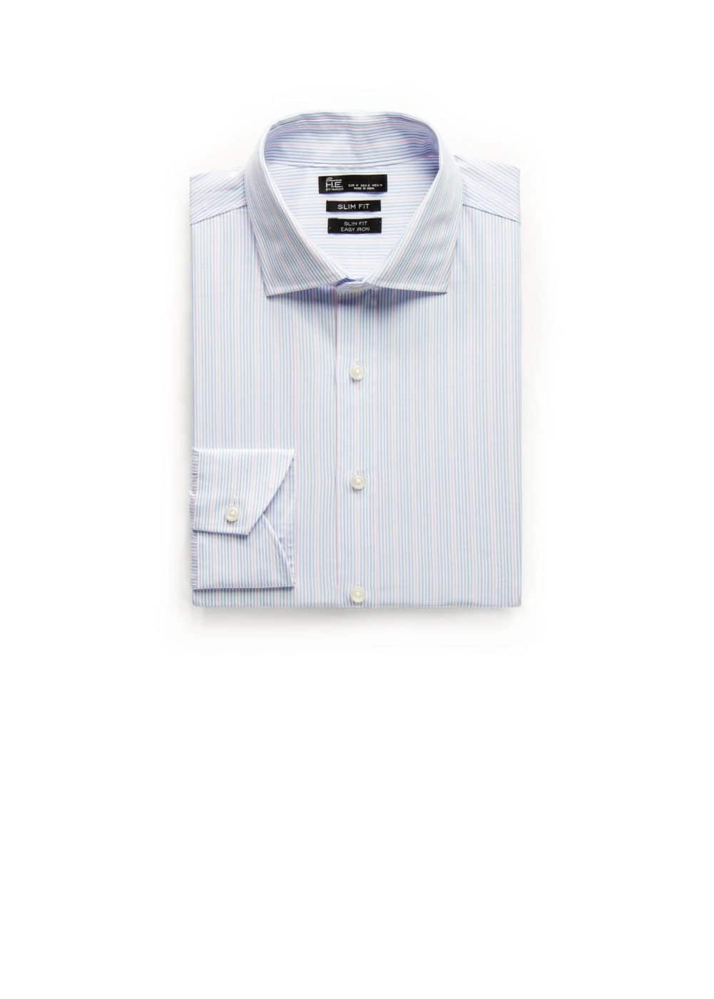 Slim-fit premium striped shirt | MANGO