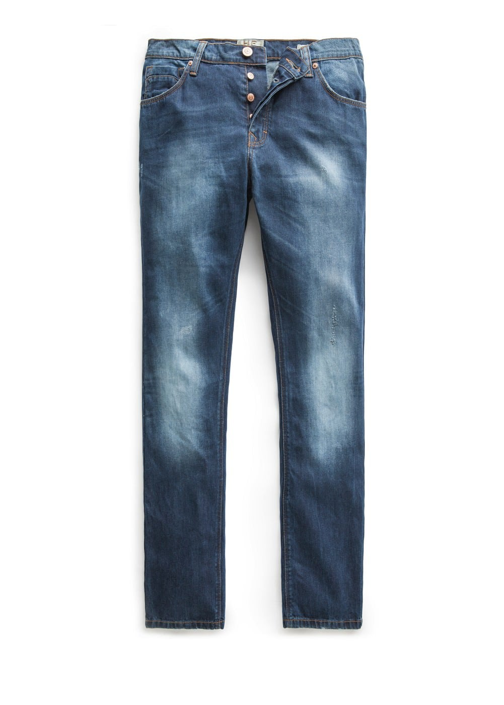 Straight-fit dark wash bob jeans | MANGO