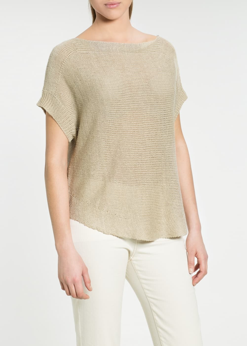 Boat neck sweater | MANGO