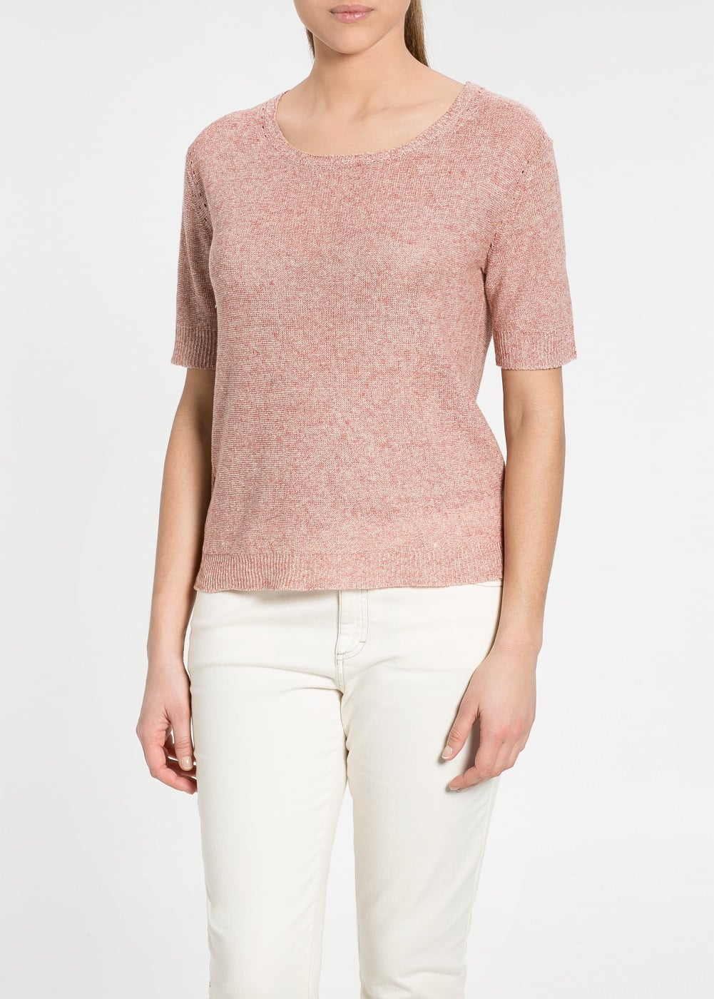 Linen sweater | MANGO