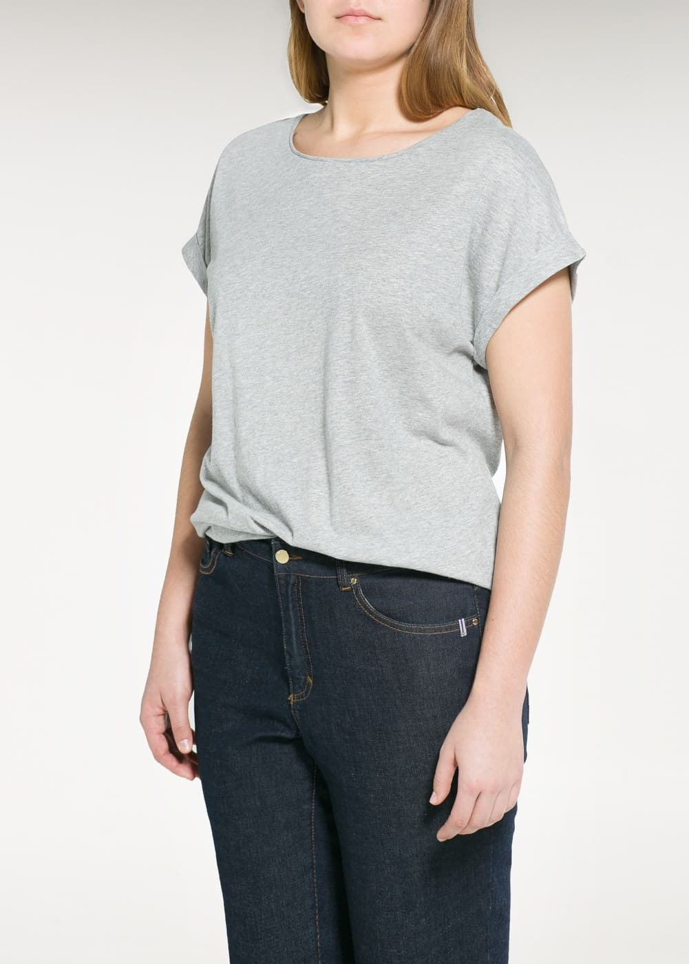 Flecked cotton t-shirt | MANGO