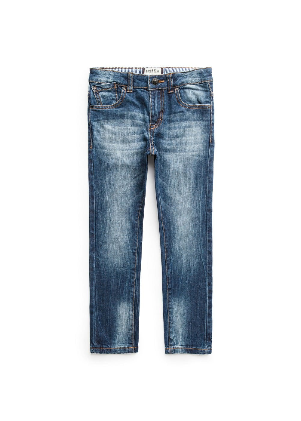 Slim-fit dark wash jeans | MANGO KIDS