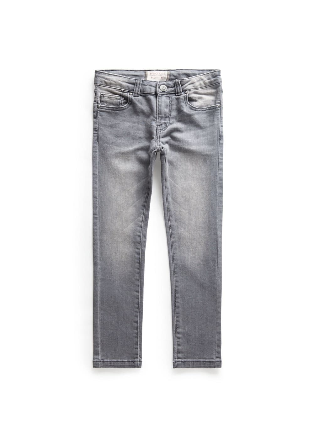 Graue slim fit jeans | MANGO KIDS