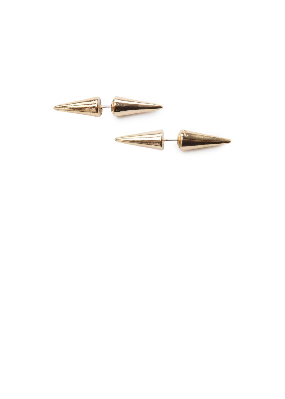 Metal horn earrings | MANGO