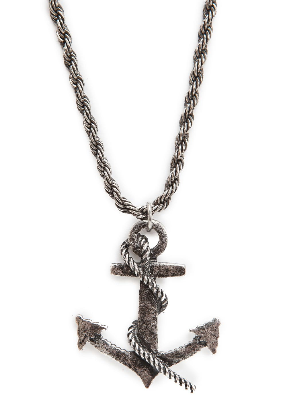 Anchor pendant necklace | MANGO